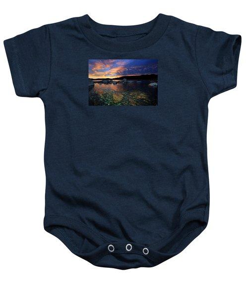 Lake Tahoe Sundown Baby Onesie