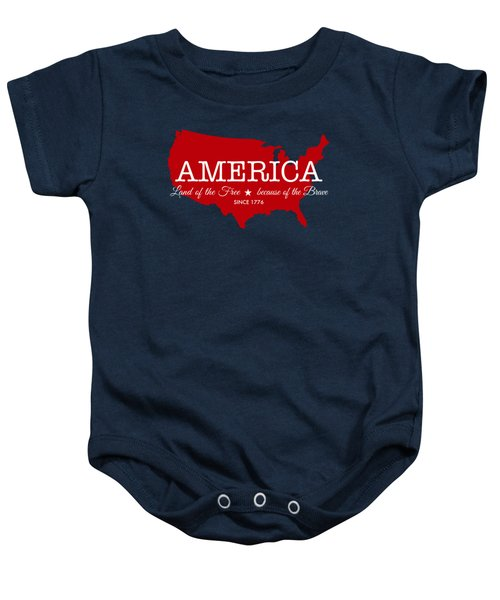 Land Of The Free Baby Onesie