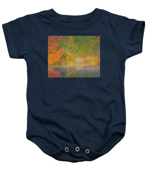Langwater Pond Boathouse October 2015 Baby Onesie