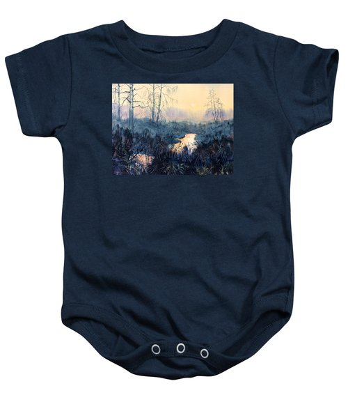 Last Light On Skipwith Marshes Baby Onesie