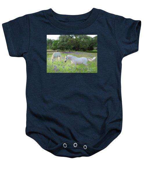Lavender Pastures Baby Onesie