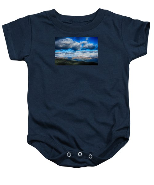 Layers Of Clouds On Mount Evans Baby Onesie