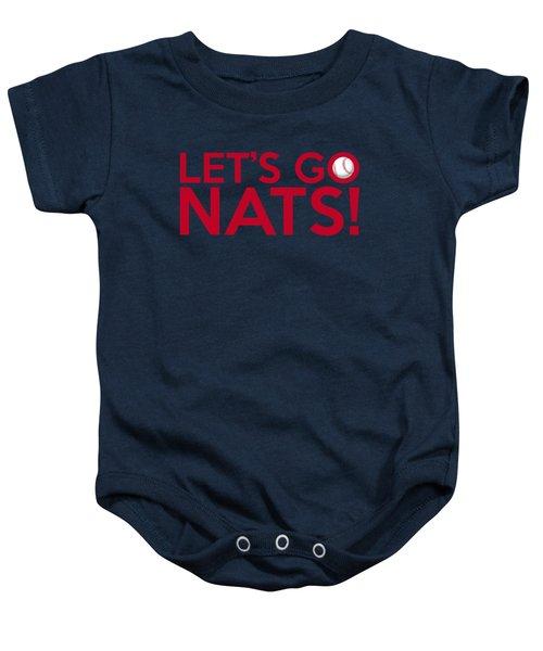 Let's Go Nats Baby Onesie