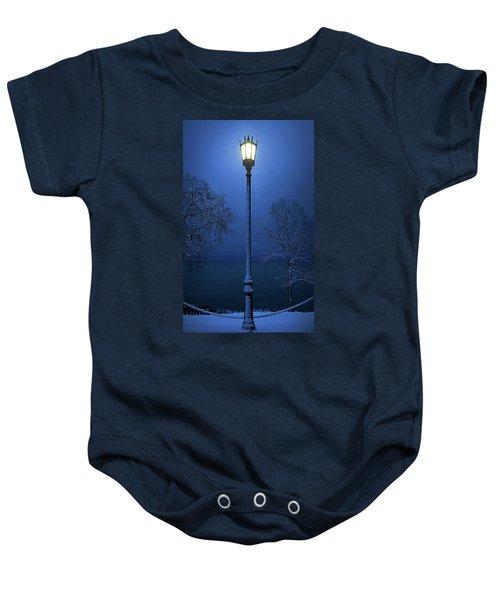 Light Winter Blue Baby Onesie