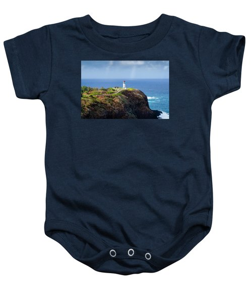 Lighthouse On A Cliff Baby Onesie