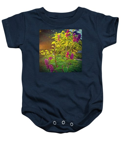 Lilac Tree Baby Onesie