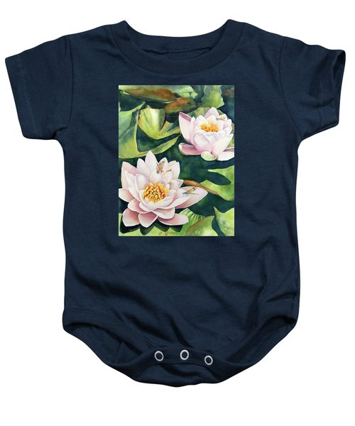 Lilies And Dragonflies Baby Onesie