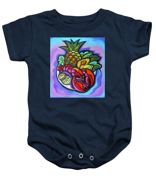 Lobster And Salad Baby Onesie