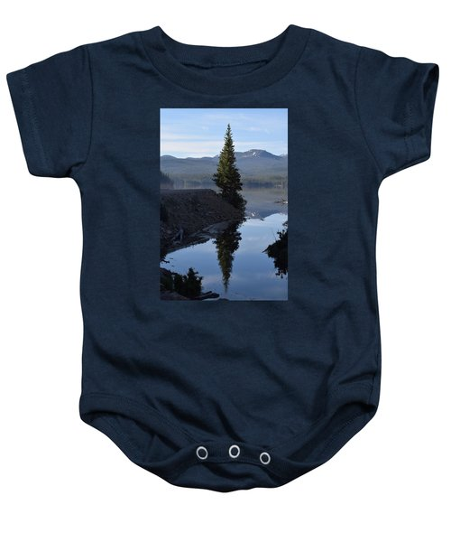 Lone Pine Reflection Chambers Lake Hwy 14 Co Baby Onesie