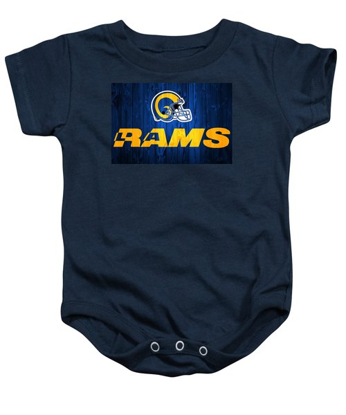Los Angeles Rams Barn Door Baby Onesie