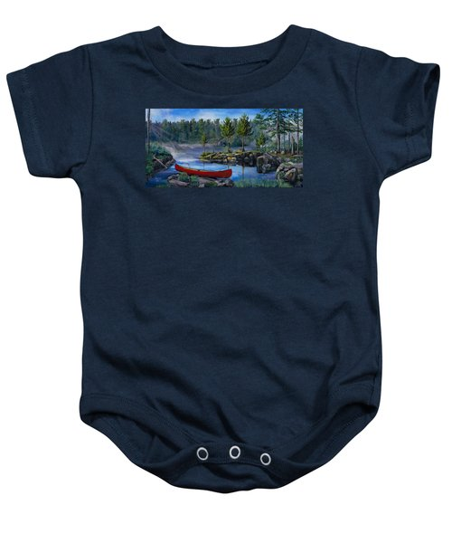 Lost In The Boundary Waters Baby Onesie