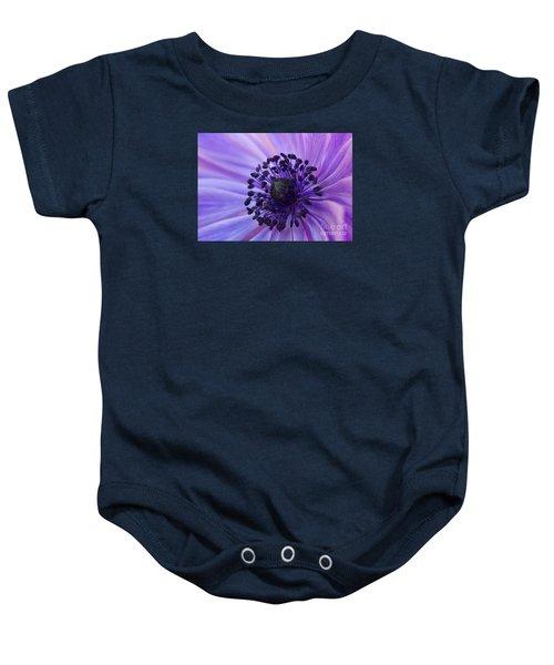 Macro Of Lavender Purple Anemone Baby Onesie