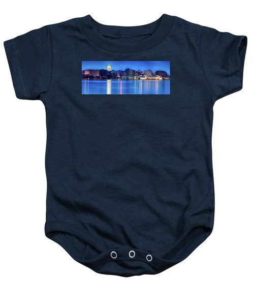 Madison Skyline Reflection Baby Onesie