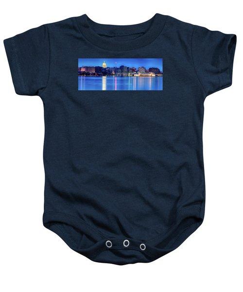 Madison Skyline Reflection Baby Onesie