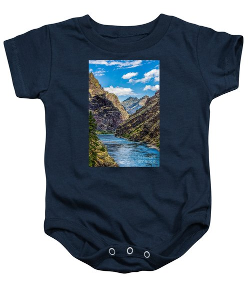 Majestic Hells Canyon Idaho Landscape By Kaylyn Franks Baby Onesie