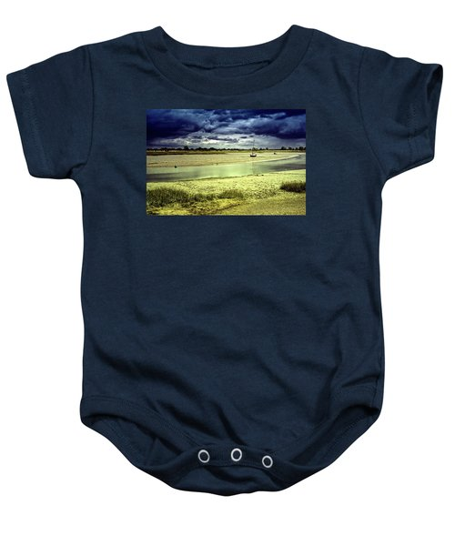 Maldon Estuary Towards The Sea Baby Onesie