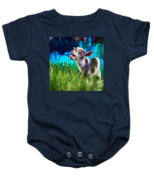 Baby Goat Kid Singing Baby Onesie