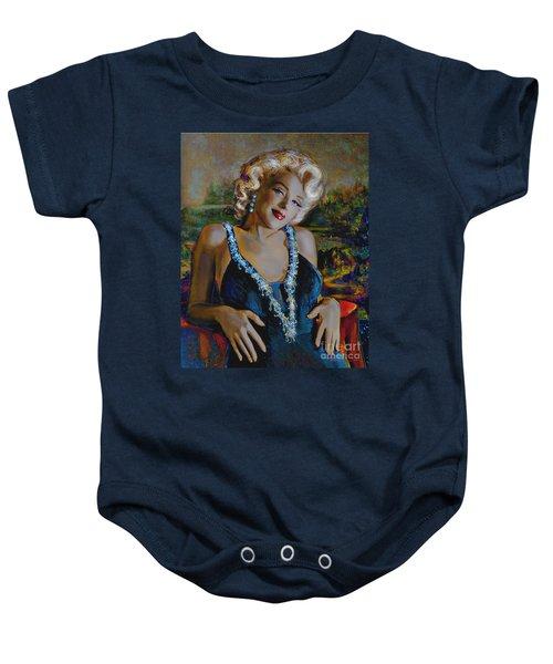 Marilyn Monroe 126 Monalisa Baby Onesie