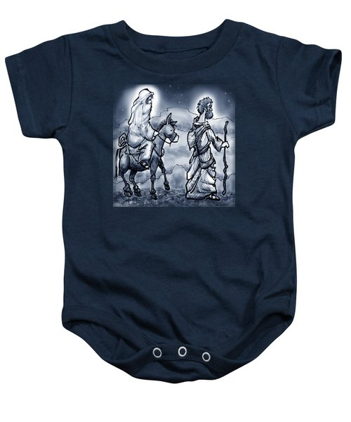 Mary And Joseph  Baby Onesie by Kevin Middleton