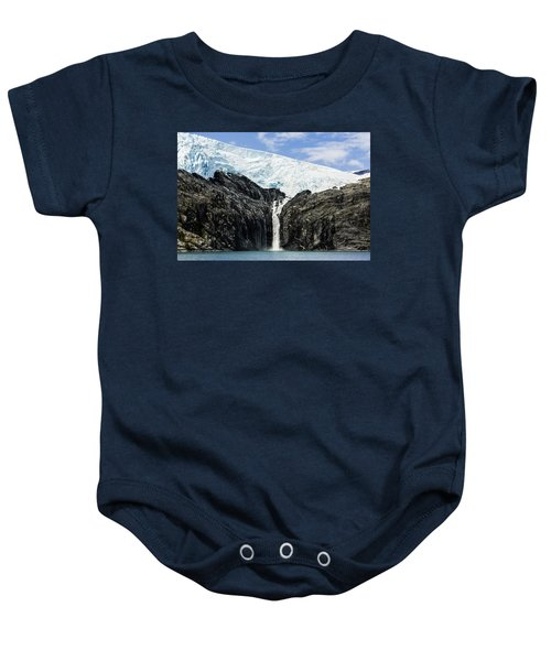 Meltwater From The Northland Glacier Baby Onesie by Ray Bulson