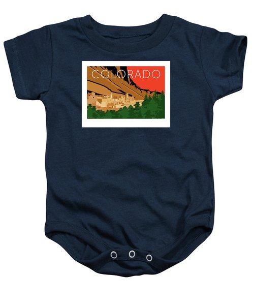 Mesa Verde Orange Baby Onesie