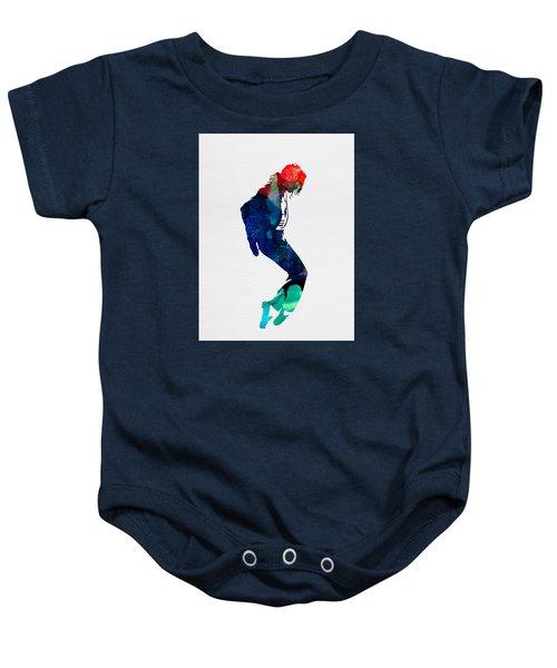 Michael Watercolor Baby Onesie
