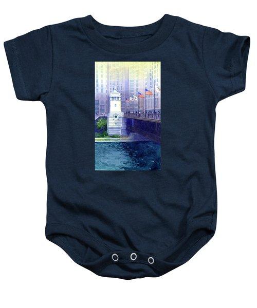 Michigan Avenue Bridge Baby Onesie