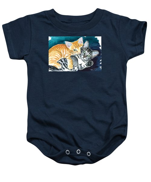 Milo And Tigger - Cute Kitty Painting Baby Onesie