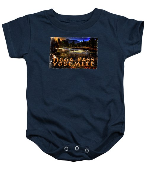 Mine Creek Between Lakes Ellery And Tioga Baby Onesie by Roger Passman
