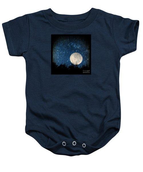 Moon, Tree And Stars Baby Onesie