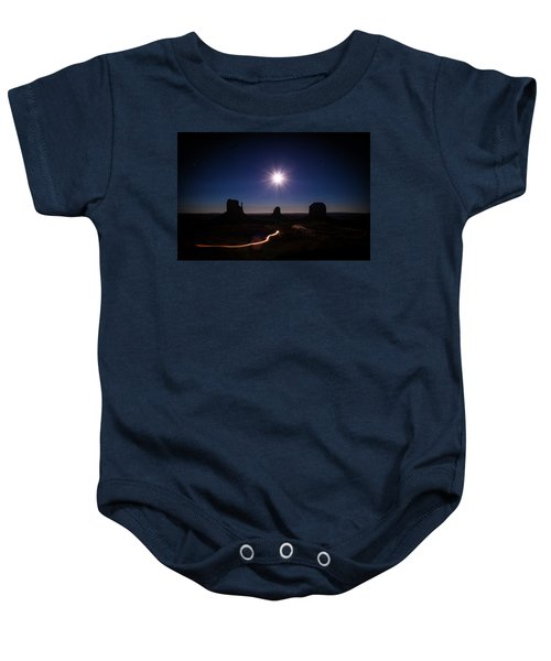 Moonlight Over Valley Baby Onesie