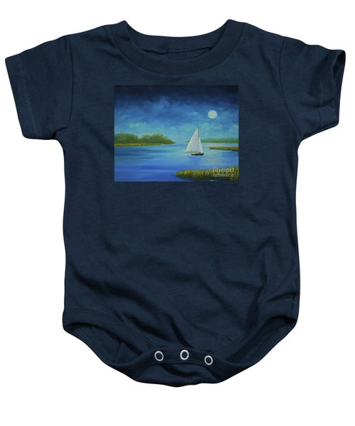 Moonlight Sail Baby Onesie