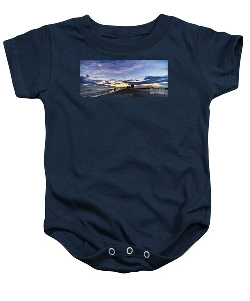 Moonlit Beach Sunset Seascape 0272c Baby Onesie