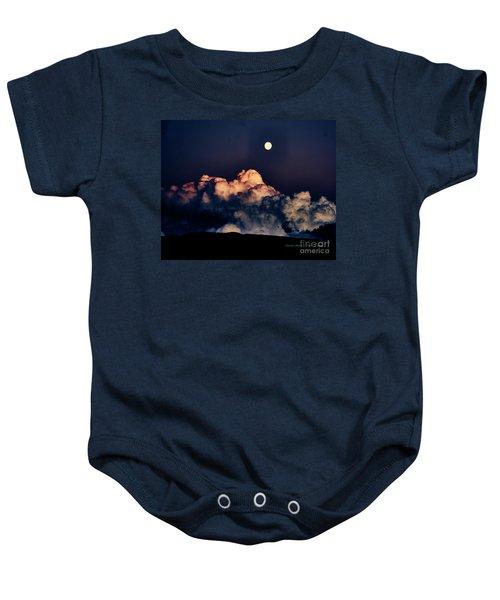 Moonrise In Taos Baby Onesie