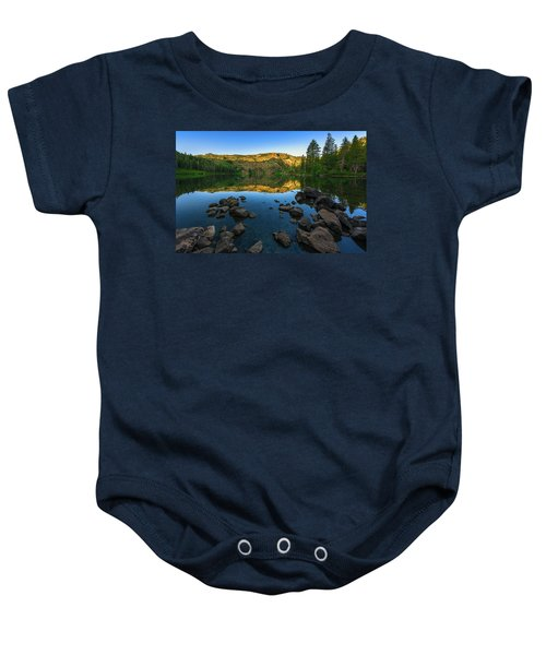 Morning Reflection On Castle Lake Baby Onesie