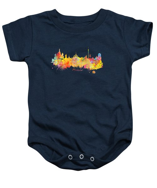 Moscow Skyline  Baby Onesie