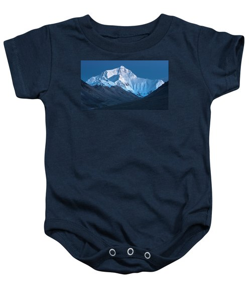 Mount Everest At Blue Hour, Rongbuk, 2007 Baby Onesie