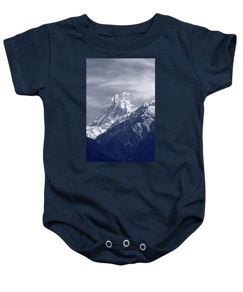 Mount Machapuchare, The Himalayas, Nepal Baby Onesie