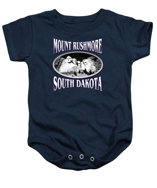Mount Rushmore South Dakota Design Baby Onesie