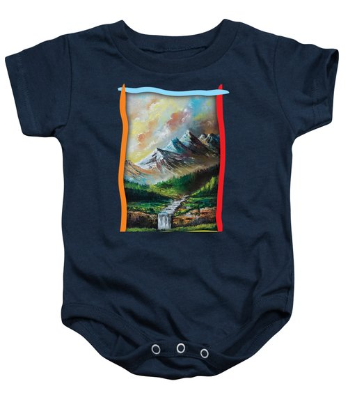 Mountains And Falls Baby Onesie