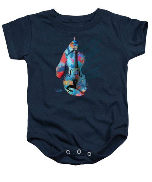 My Violin Whispers Music In The Night Baby Onesie