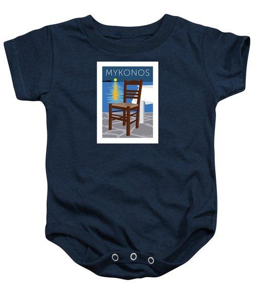 Mykonos Empty Chair - Blue Baby Onesie