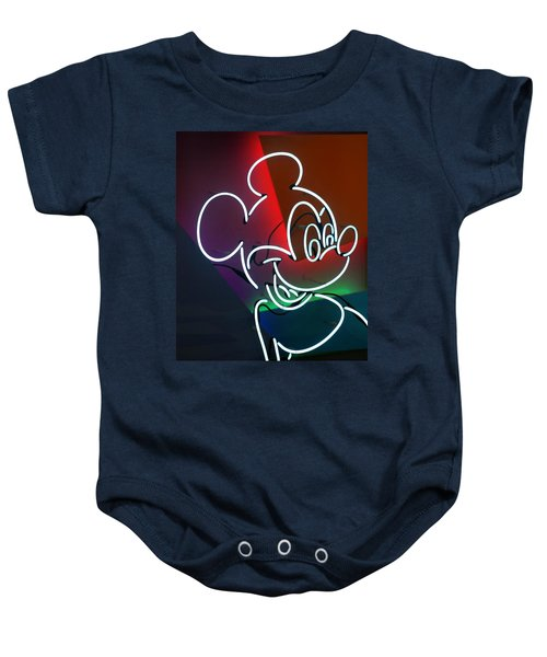 Neon Mickey Baby Onesie