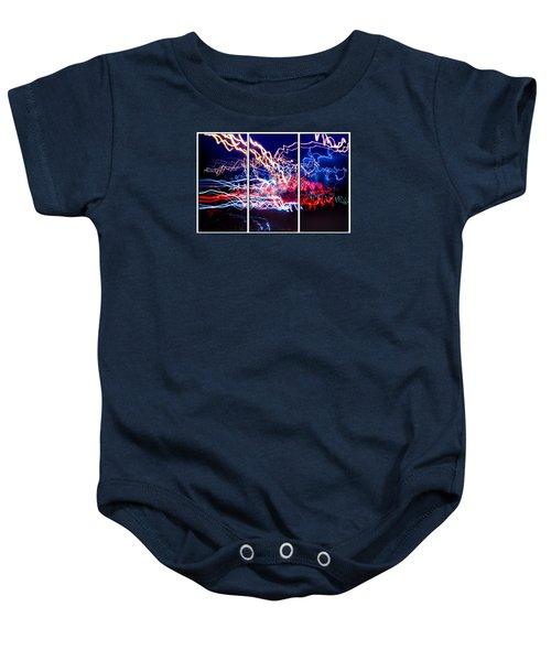 Neon Ufa Triptych Number 1 Baby Onesie