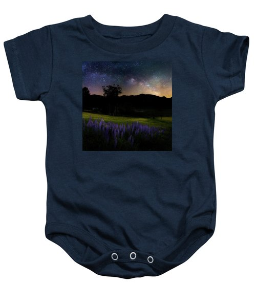 Baby Onesie featuring the photograph Night Flowers Square by Bill Wakeley