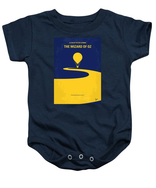 No177 My Wizard Of Oz Minimal Movie Poster Baby Onesie