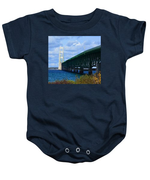 October At The Straits Of Mackinac Baby Onesie