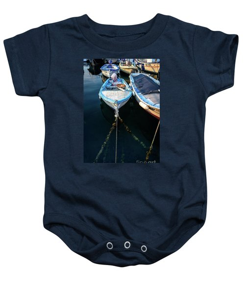 Old Fishing Boats Of The Adriatic Baby Onesie