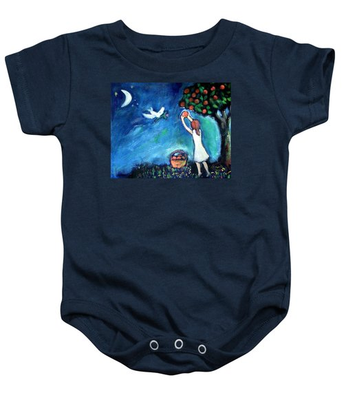 Baby Onesie featuring the painting Oranges Song by Winsome Gunning