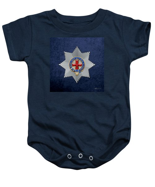 Order Of The Garter Star On Blue  Baby Onesie